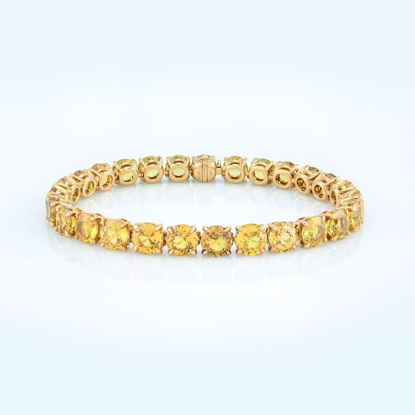 Bracelet-03-18K-Yellow-Gold-Bracelet-With-Round-Yellow-Sapphires.