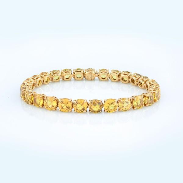 Bracelet-03-18K-Yellow-Gold-Bracelet-With-Round-Yellow-Sapphires.