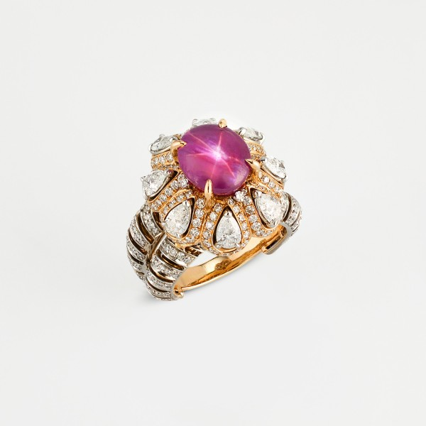Rings-07-18K-Pink-or-White-Gold-Ring-Set-With-Star-Ruby-Sapphire-Pear-or-Round-Diamonds.