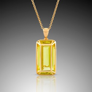 Pendant-02-18K-Yellow-Gold-Pendant-Set-With-Emerald-Cut-Lemon-Quartz.